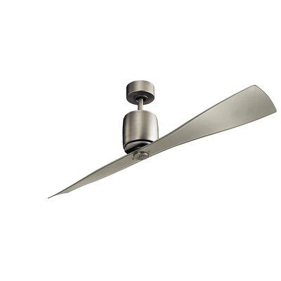 60 Ferron 2-Blade Ceiling Fan Finish: Brushed Nickel