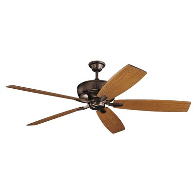 70 Julius 5 Blade Ceiling Fan Finish: Oil Brushed Bronze with Cherry/Walnut Blades