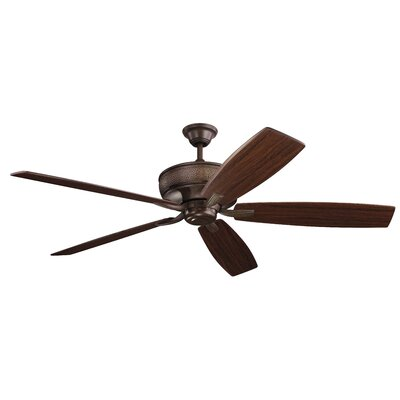 70 Julius 5 Blade Ceiling Fan Finish: Tannery Bronze with Teak/Cherry Blades