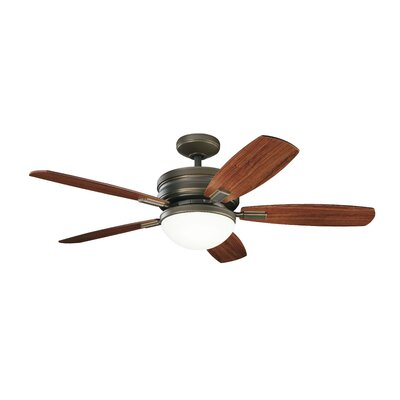 52 Rhames 5 Blade LED Ceiling Fan Finish: Oiled Bronze with Medium Cherry/Dark Cherry Blades