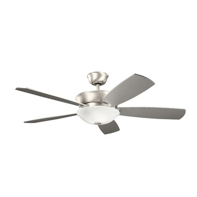 54 Whyalla 5 Blade LED Ceiling Fan Finish: Brushed Nickel with Silver/Walnut Blades