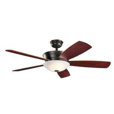 54 Whyalla 5 Blade LED Ceiling Fan Finish: Oiled Bronze with Medium Cherry/Dark Cherry Blades