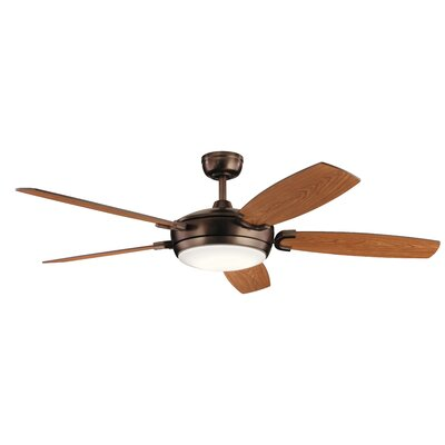 60 Wicker Park 5 Blade LED Ceiling Fan Finish: Oil Brushed Bronze with Walnut/Cherry Blades