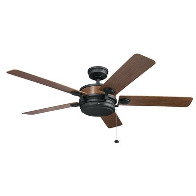 60 Sherley 4 Blade Outdoor Ceiling Fan Finish: Auburn Stained