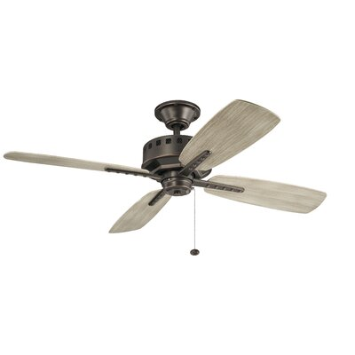 52 Sherise Patio 4 Blade Outdoor Ceiling Fan Motor Finish: Old Bronze