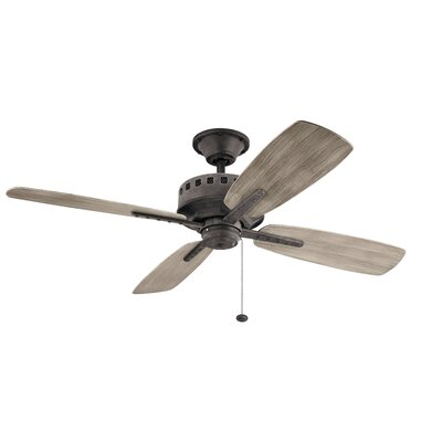 52 Sherise Patio 4 Blade Outdoor Ceiling Fan Motor Finish: Weathered Zinc