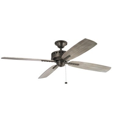 65 Sherise Patio XL 4 Blade Outdoor Ceiling Fan Finish: Old Bronze with Weather Medium Oak Blades