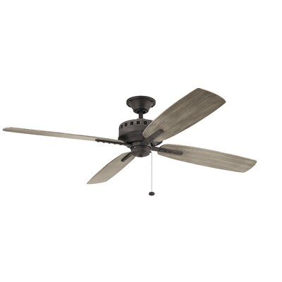 65 Sherise Patio XL 4 Blade Outdoor Ceiling Fan Finish: Weathered Zinc with Weather Medium Oak Blades