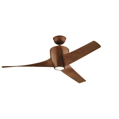 56 Alberta 3 Blade Outdoor LED Ceiling Fan Finish: Walnut