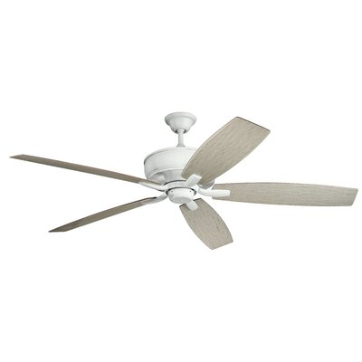 70 Julius 5 Blade Outdoor Ceiling Fan Finish: Matte White with White Blades