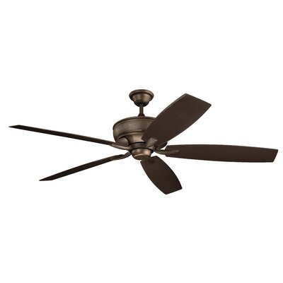 70 Julius 5 Blade Outdoor Ceiling Fan Finish: Weathered Copper with Teak/Cherry Blades