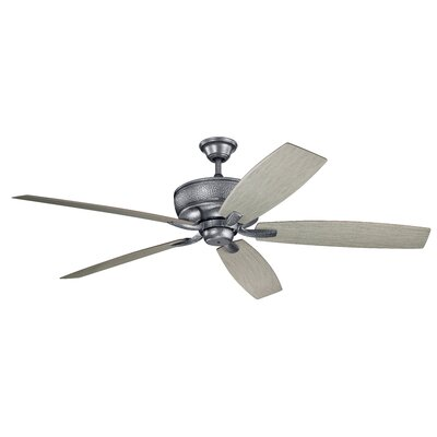 70 Julius 5 Blade Outdoor Ceiling Fan Finish: Weathered Steel with Cherry/Walnut Blades