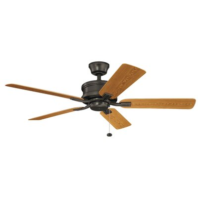 52 Kathleen 5 Blade Outdoor Ceiling Fan Finish: Old Bronze with Cherry/Walnut Blades