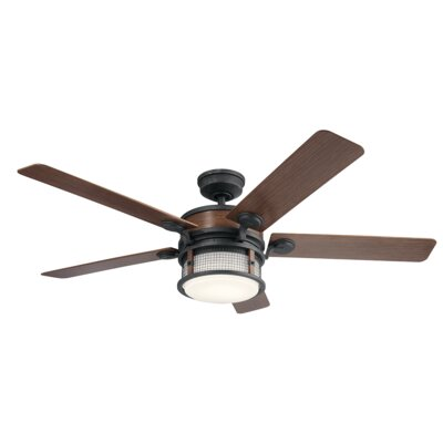 60 Sherita 4 Blade Outdoor LED Ceiling Fan Finish: Auburn Stained