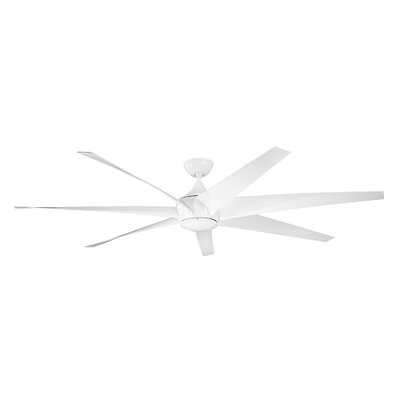 80 Lehr 7 Blade Ceiling Fan Finish: White