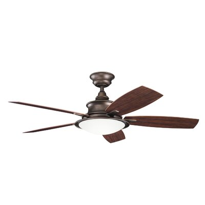 52 Cameron 5 Blade Ceiling Fan Finish: Weathered Copper
