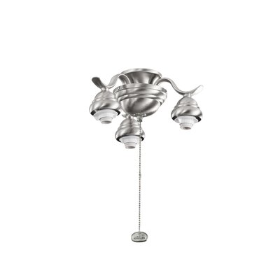 3 Arm Decorative Fan Fitter Finish: Brushed Stainless Steel