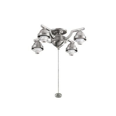 4 Arm Decorative Fan Fitter Finish: Brushed Stainless Steel