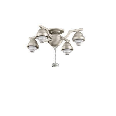 4 Arm Decorative Fan Fitter Finish: Brushed Nickel
