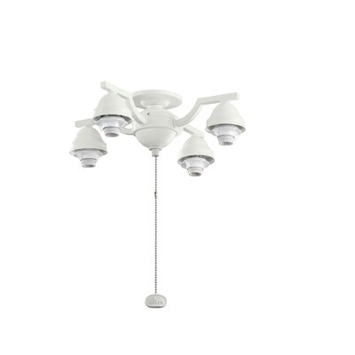 4 Arm Decorative Fan Fitter Finish: Satin Natural White