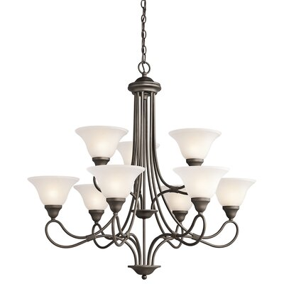 Stafford 9-Light Shaded Chandelier