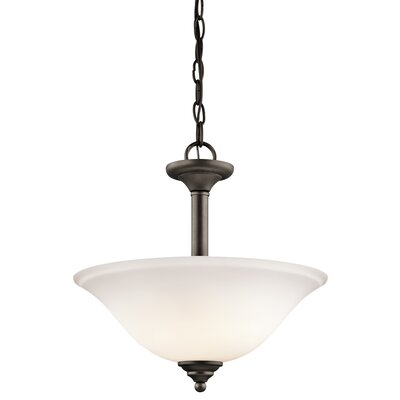 Brushed 2-Light Semi Flush/Inverted Pendant Finish: Bronze