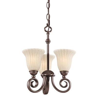 Willowmore 3-Light Shaded Chandelier Finish: Tannery Bronze