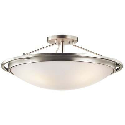 4-Light Semi Flush Mount Finish: Brushed Nickel