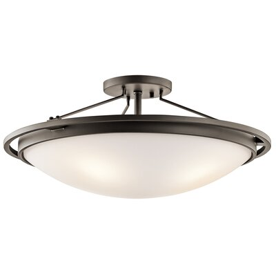 4-Light Semi Flush Mount Finish: Olde Bronze