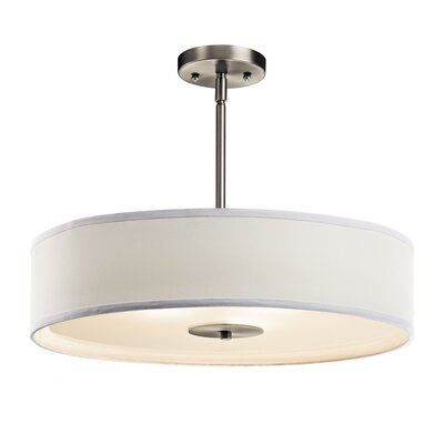 Mohnton 3-Light Drum Pendant Finish: Brushed Nickel