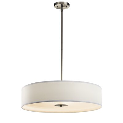 Queenstown Crystal Persuasion 3-Light Drum Pendant Finish: Brushed Nickel