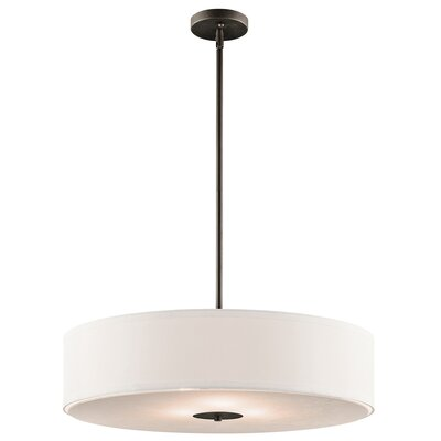 Queenstown Crystal Persuasion 3-Light Drum Pendant Finish: Olde Bronze