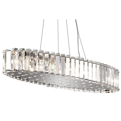Crystal Skye 12-Light Kitchen Island Pendant