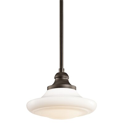 Keller 1-Light Schoolhouse Pendant Finish: Olde Bronze
