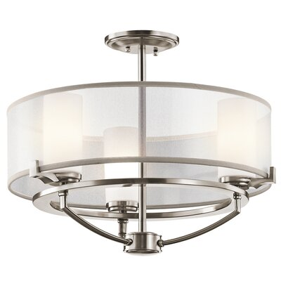 Saldana 3-Light Convertible Semi Flush Mount