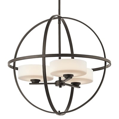 Scoles 3-Light Globe Pendant Finish: Olde Bronze