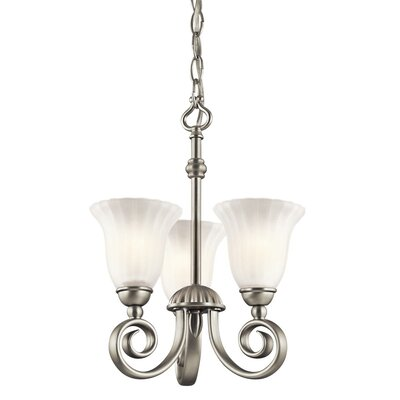 Bafford 3-Light Metal Shaded Chandelier Finish: Brushed Nickel