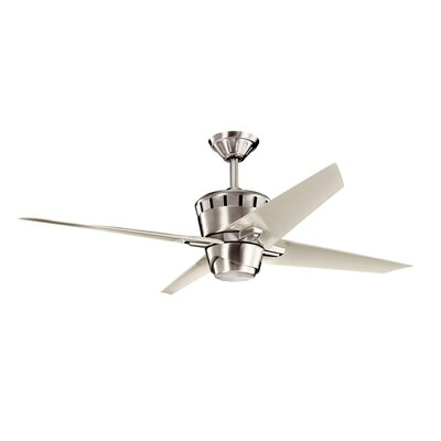 Low Price 52 inches Kemble 4 Blade Ceiling Fan Finish: Satin Black with Matte Satin Black Blades