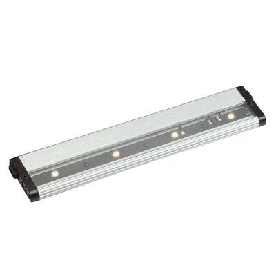 Modular Pro LED Under Cabinet Bar Light Size: 0.5 H x 2.5 W x 18 D, Finish: Brushed Nickel, Bulb Type: LED 2700K