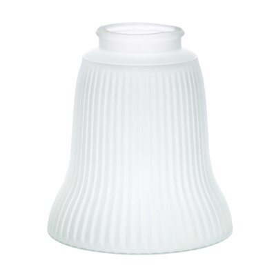 10.63 Glass Bell Pendant Shade (Set of 4) Finish: Frosted