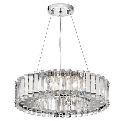 Crystal 6-Light Crystal Chandelier Size: 5 H x 20.75 W