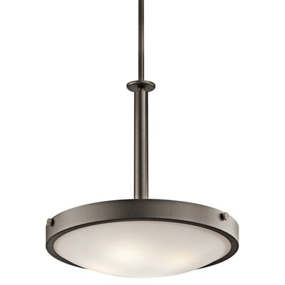 Lytham Light Inverted Pendant Size: 9.25 H x 17.5 W, Finish: Brushed Nickel