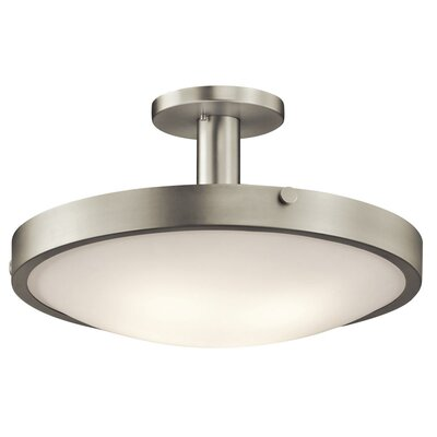 Lytham 4-Light Semi Flush Mount Finish: Brushed Nickel