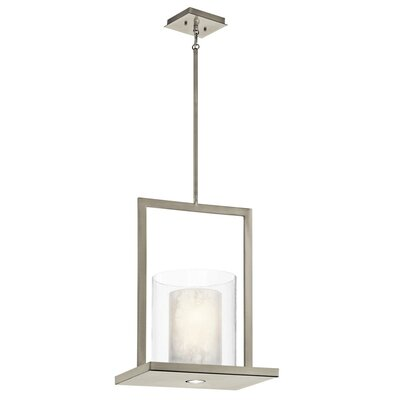 Triad 1-Light Mini Pendant Size: 18 H x 7.75 W x 12 D, Finish: Olde Bronze