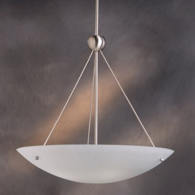Family Spaces 4-Light Inverted Pendant Finish: Brushed Nickel