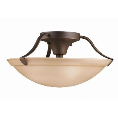 Ervin 3-Light Semi Flush Mount Finish: Olde Bronze