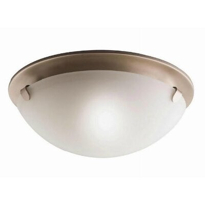 Boerner 2-Light Flush Mount Finish: Brushed Nickel