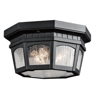 Flinders 3-Light Flush Mount Finish: Textured Black