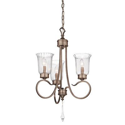 Malina 3-Light Candle-Style Chandelier