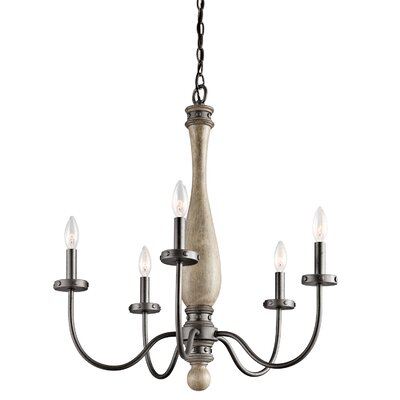 Evan 5-Light Candle-Style Chandelier